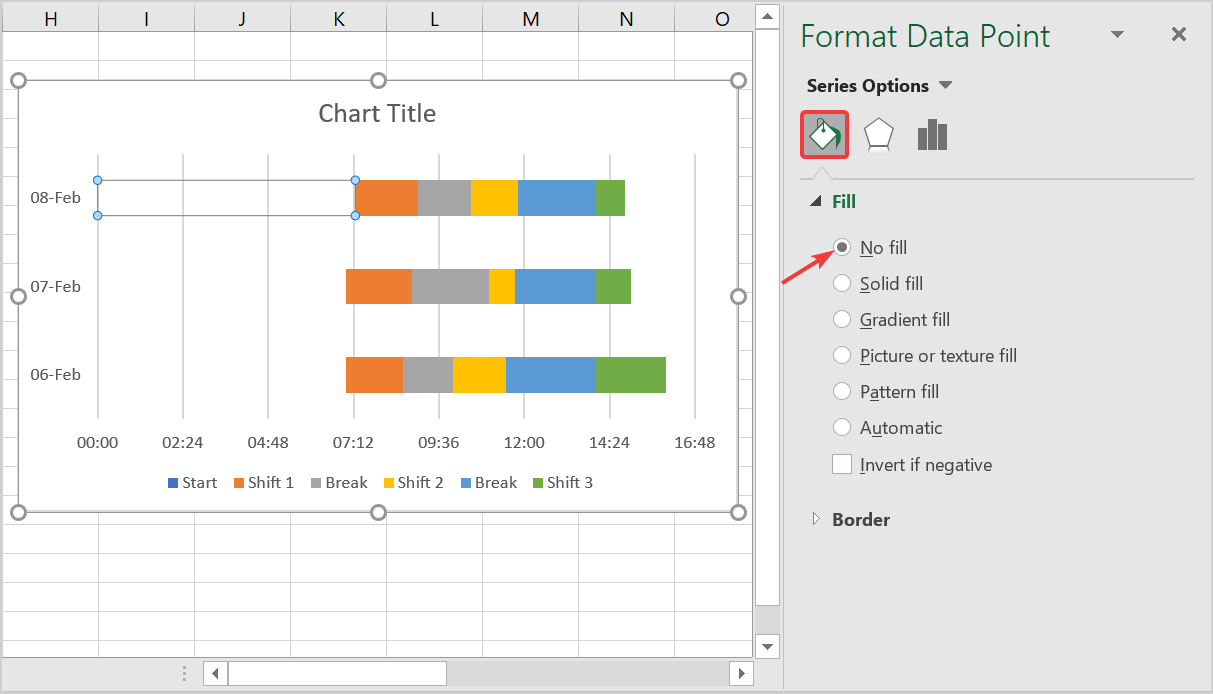 how to make series invisible in the chart