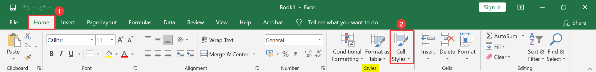 How to create a custom cell style in Excel