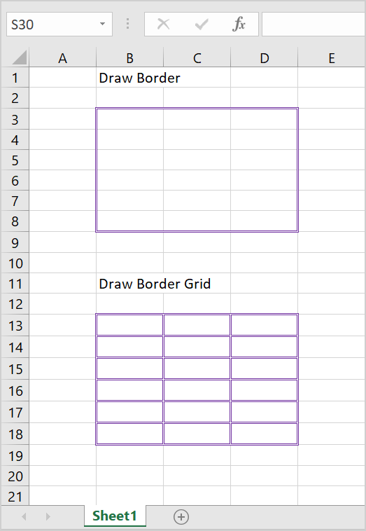 how to draw borders in excel 2016