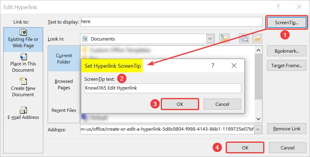 Set Hyperlink Screentip
