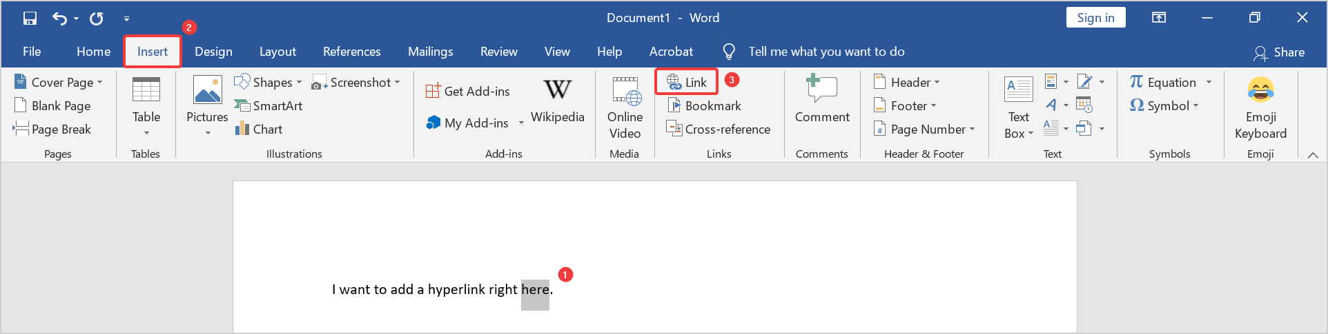how to edit a hyperlink in word