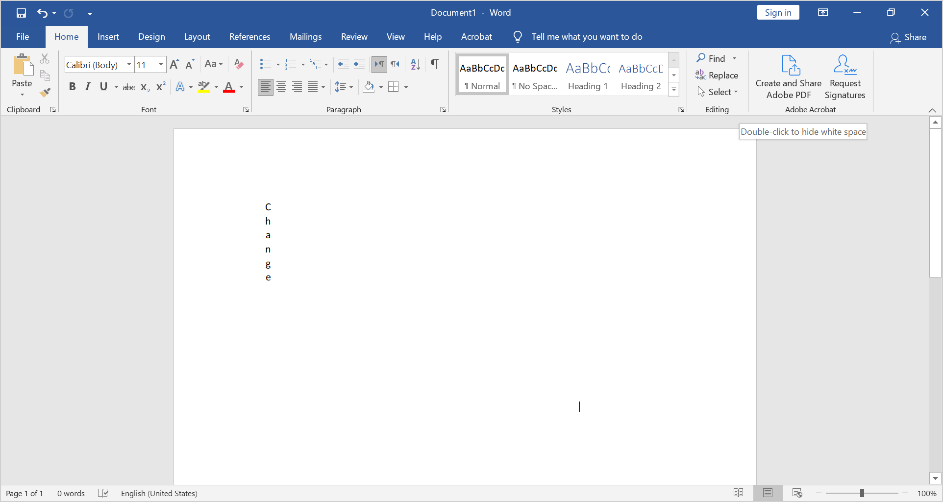 align vertical text in Word