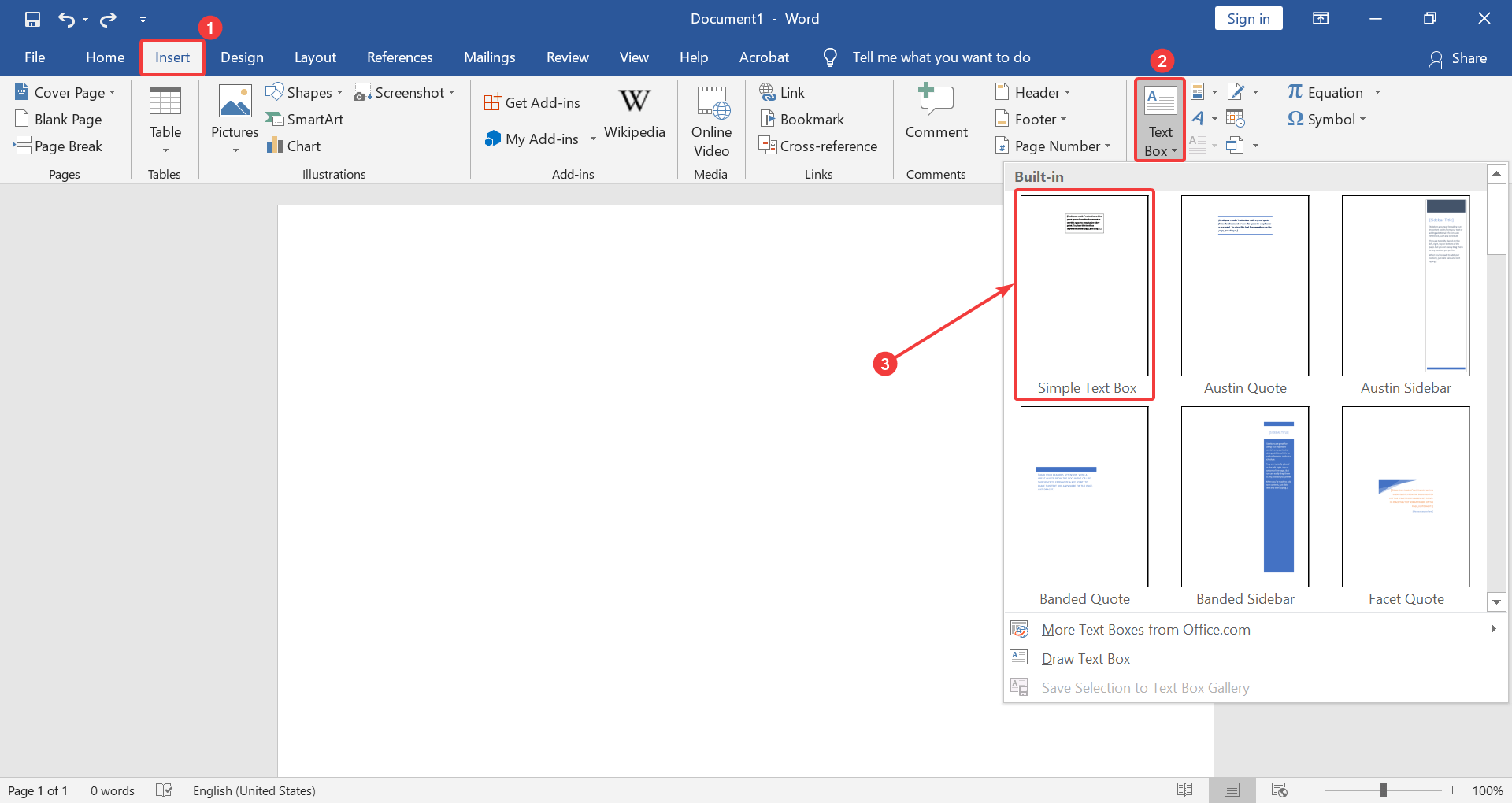 How to write text vertically in Microsoft Word